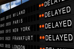 erstatning ved forsinket fly
